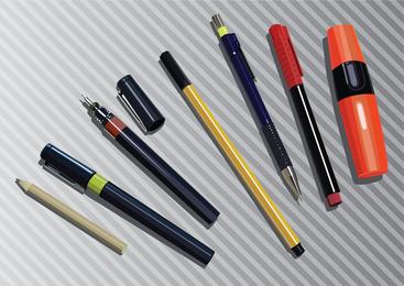 Gráficos de caneta de lápis de marcador