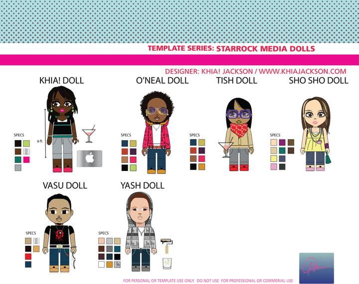 Pop Art Series Starrock Doll Vectores