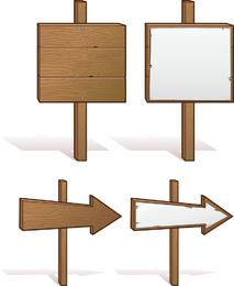 Board Signs Vector