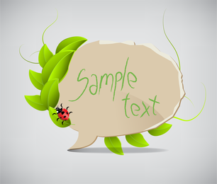 Leaves The Dialog Box 01 Vector