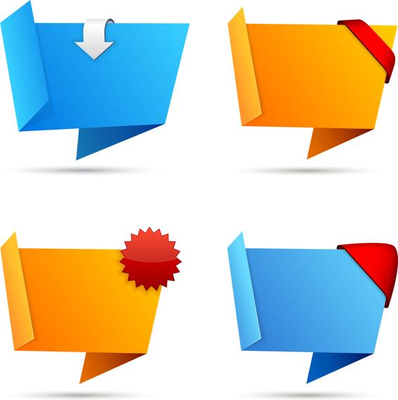 origami decorative graphics vector 2 vector download