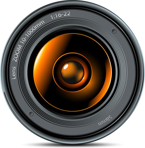 Camera Lens 01 Vector