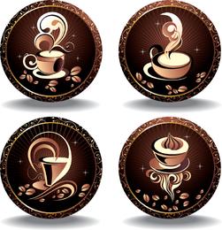 Vetor de elemento 05 de café fino