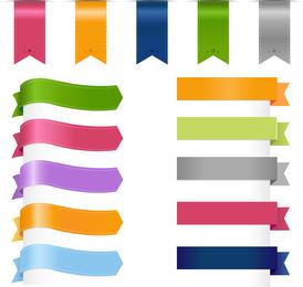 Colored Silk Label 01 Vector
