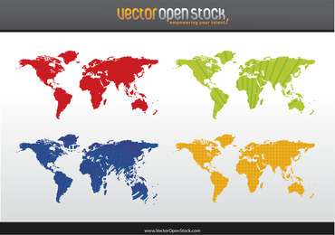 World Map 4 Colors