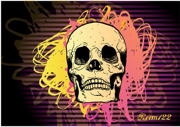 Cráneo vector 8