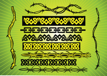 Barbed Wire Tribal Vectors 2