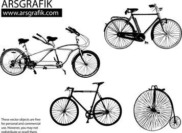Arte vetorial Bicicletas
