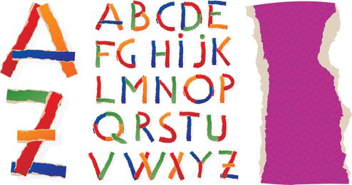 Diferentes Letras 02 Vector
