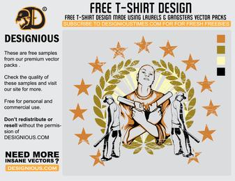 Diseño de camiseta Gangsta