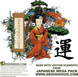 Japanese Illustration Vectors