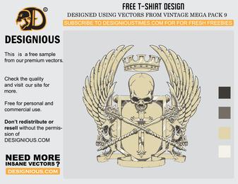 Diseño de camiseta de cresta