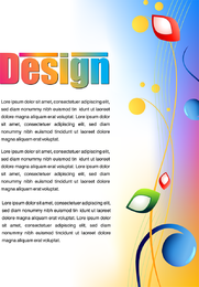 Cartazes de publicidade colorida 02 Vector