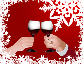 Champagne And Goblets Vector