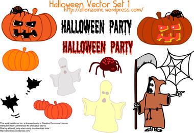 Conjunto de vetores de Halloween 1
