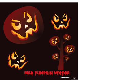 Mad Pumpkin Vector