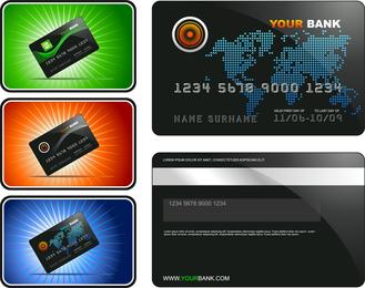 Vector de plantilla de tarjeta bancaria