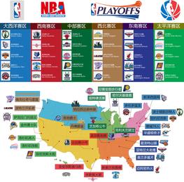 Times da NBA ea distribuição de Vector Padrão