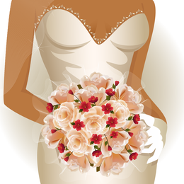 Charm Of The Bride Wedding Elements 02 Vector