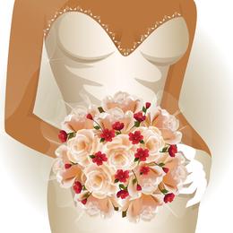 Encanto de la novia boda elementos 02 Vector