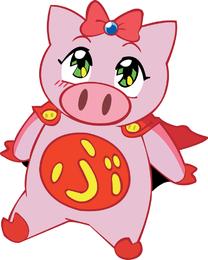 Flying Pig Vector Girl
