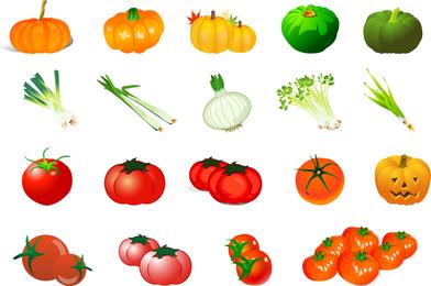 Vector de verduras