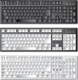 Keyboard Template 01 Vector