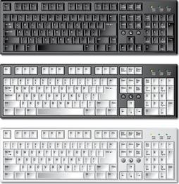Plantilla de teclado 01 vector