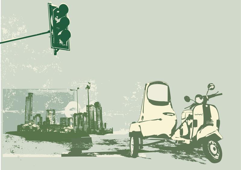 Vector Elements Of Retrostyle City