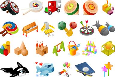 Um De Crianças Brinquedos Vector
