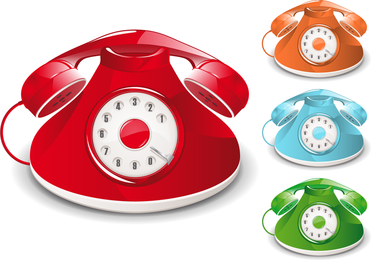 Vector de teléfono pasado de moda