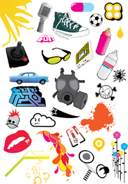 Elemento de design livre pacote de vetores 2