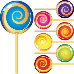 Vector de Lollipop colorido