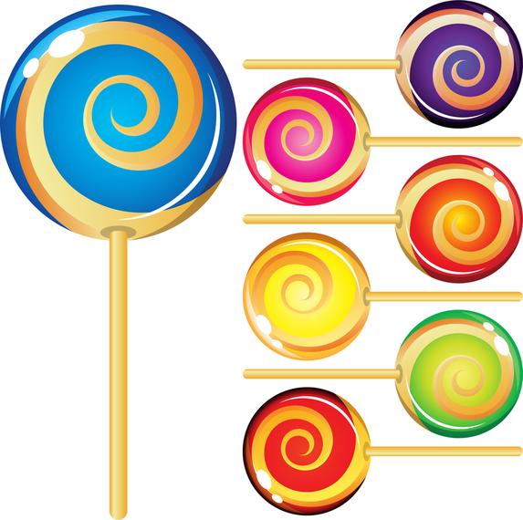 Vector de Lollipop colorido