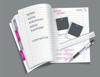 Open Notepad Vector 2