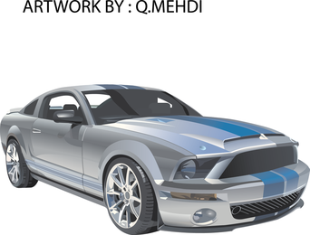 Free Ford Mustang Racing Vector