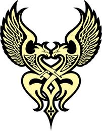 Tendência águia Totem Vector