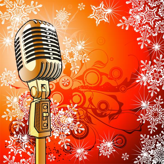 Микрофон открытки, дню
