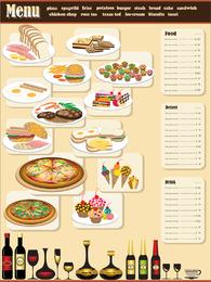Menu de restaurante Design 01 Vector