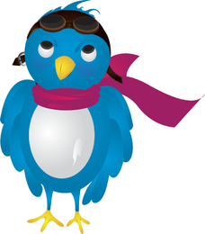 Vetor de pássaro piloto do Twitter