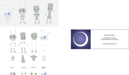Kit de montaje de vector robot