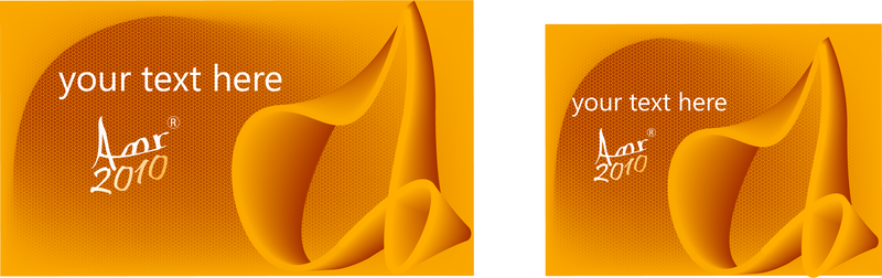 Orange Wave Business Card