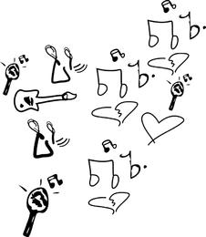 Sketchy Musical Vector