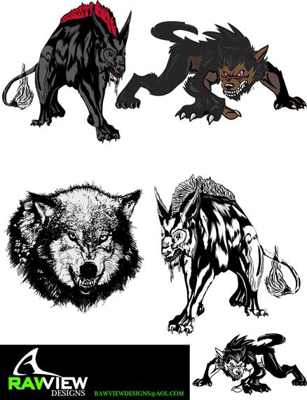 free hellhound wolf vector vector download. Black Bedroom Furniture Sets. Home Design Ideas