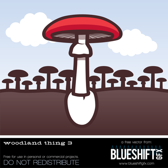Woodland Mushroom Vector