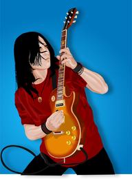 Man playing electric guitar illustration