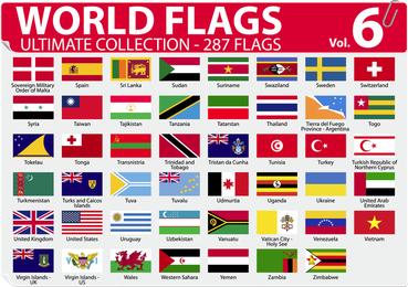 Nationaler oder regionaler Flagge und regionaler Flaggen-Vektor 6