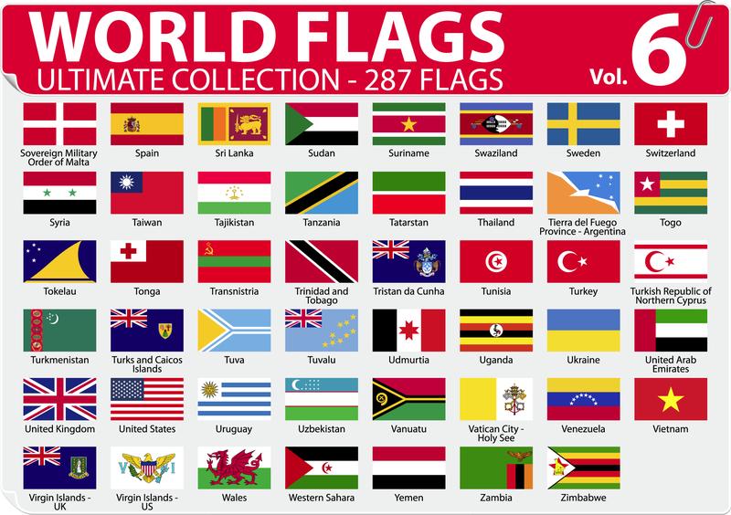 National Or Regional Flag And Regional Flag Vector 6