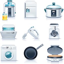 Vetor de aparelhos de cozinha