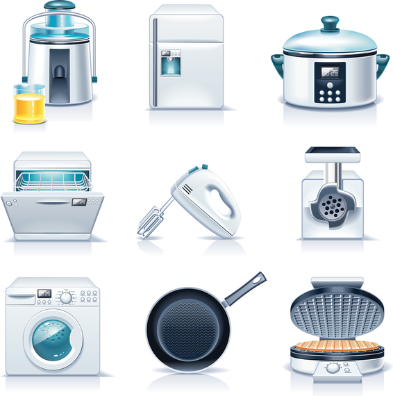 Kitchen Appliances Vector Vector Download